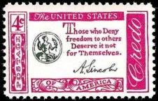 United States Stamp Values - 1960-1961 Commemoratives - Includes the American Credo and Civil War Centennial Series