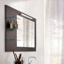 Bathroom light gray walls white trim paint colors - Espejos de bano ...