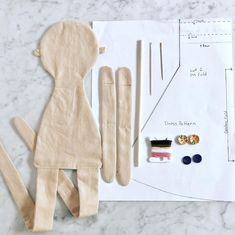 Introducing the doll kit.  Everything you need to create a magical heirloom doll of your very own