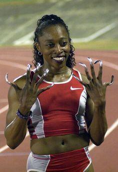 Gail Devers (USA) - Three-times Olympic champion