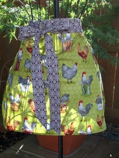 Rooster Hostess Apron by SissysCreationsSL on Etsy, $20.00
