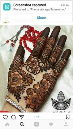 Best Henna Design on Palm Images Gallerh - Henna Designs Easy on Palm with Cute and Simple Design for Girl. this is the best henna design on Palm Mehndi Designs 2018, Stylish Mehndi Designs, Floral Henna Designs, Mehndi Designs For Girls, Full Hand Mehndi Designs, Wedding Mehndi Designs, Henna Designs Easy, Mehndi Designs For Fingers, Dulhan Mehndi Designs