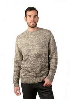 Monte Sweater - Original Sweater with unique pattern design and a round Neck. Perfect for any occasion (Composition: 50% Alpaca 40% Wool 10% Nylon)