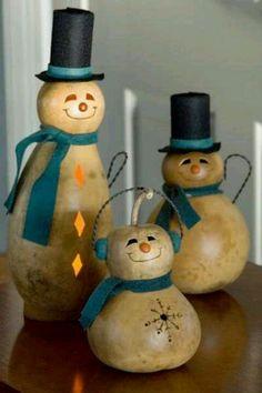 Snow Man Gourds