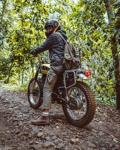 Go look at a couple of my best builds - distinctive scrambler designs like Tracker Motorcycle, Motorcycle Camping, Scrambler Motorcycle, Motorcross Bike, Dominator Scrambler, Scrambler Custom, Small Dirt Bikes, Honda Cb 100, Bike Humor