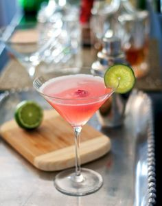 Raspberry Limeade Martini. It is refreshing, easy (umm hello only 4 ingredients), and pink. I don't think it could get any better. This would be perfect for a girls night.