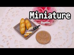 미니어쳐 바게트 빵 만들기 Miniature * Baguette - YouTube