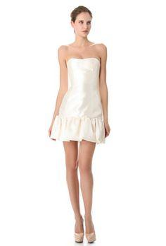 Strapless Short Wedding Dress by Reem Acra | Brides.com