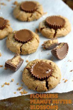 5-Ingredient Flourless Peanut Butter Blossoms