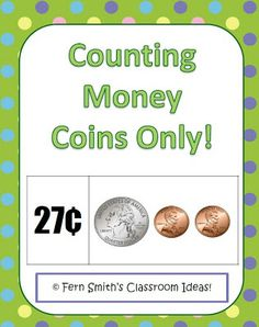 Classroom Freebies: Fern Smith's Counting Money ~ Coins Only Center Game $0