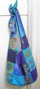 Boho Sling Bag tutorial. How to sew sewing pattern purse shoulder bag diy.