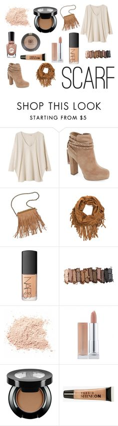 """Scarf"" by rxvxkx ❤ liked on Polyvore featuring EAST, Jessica Simpson, Patchington, NARS Cosmetics, Urban Decay, Torrid, Sally Hansen, Topshop, autumn and scarf"