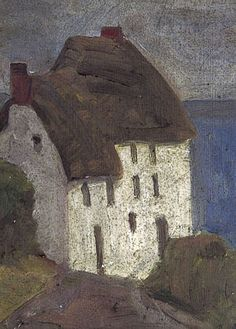 Vanessa Bell - Cornish Cottage Oil on Board, x cm Collection: Charleston Vanessa Bell, Virginia Woolf, Duncan Grant, Dora Carrington, Your Paintings, Landscape Paintings, Landscape Art, Cornish Cottage, Bloomsbury Group