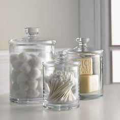 Glass canisters C&B