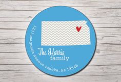 Personalized Return Address Labels Stickers   by moxypaperie