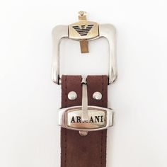 f62e768cb Vintage Armani Belt Perfect condition - metal buckle slightly worn but not  faults   Brown leather