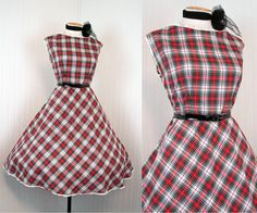 1950s Dress   HERE COMES TROUBLE Vintage 50s Red by jumblelaya, $84.00