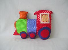 train pillow. adorable, but probably not too advanced for now.