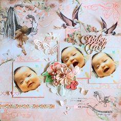 BabyGirl by:マリコ #スクラップブッキング