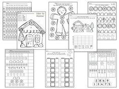 GINGERBREAD MATH PACK NUMBERS 1-20 - TeachersPayTeachers.com