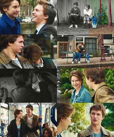 The Fault in Our Stars Hazel Grace Lancaster and Augustus Waters. Oh my gosh I loved this movie and the book!
