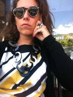 Alice wearing brand new collection necklace by Carla Matos. www.scicche.it