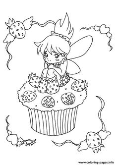 Print The Little Fairy Cupcake coloring pages sarah Pinterest