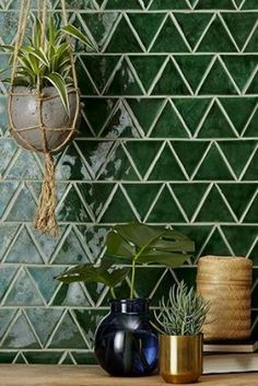 How to Improve Your Kitchen Backsplash with DIY Backsplash Ideas - If you don`t know what exactly is the kitchen backsplash then, it's the place on wall between the wall cabinets and countertops. It is intended to p. Kitchen Tile Diy, Kitchen Colors, Kitchen Backsplash, Kitchen Design, Backsplash Ideas, Green Tile Backsplash, Kitchen Plants, Kitchen Decor, Kitchen Living