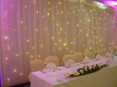 Starlight backdrop imagine the lights in Tiffany blue :) for evening reception the lights would be put up round room! Love it :-)