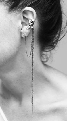 Forget Me Not Ear Cuff - except not a cuff, because I have a double cartilage piercing. So like an attached earring