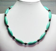 Hey, I found this really awesome Etsy listing at https://www.etsy.com/listing/179612464/mens-beaded-necklace-blue-necklace