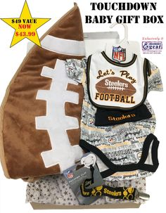 Make a Touchdown with this Baby Gift Box Set. Official NFL Licensed Steeler  Baby Gift 3ef70b6de