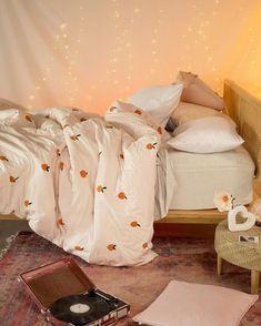 "MEDIUM   beanbag chair 18/"" American Girl matches Julie/'s bedroom orange paisley"