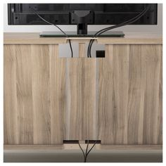 IKEA - BESTÅ TV unit with drawers walnut effect light gray, Selsviken