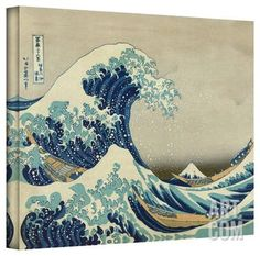 Katsushika Hokusai 'The Great Wave of Kanagawa' Gallery Wrapped Canvas Gallery Wrapped Canvas by Katsushika Hokusai at Art.com