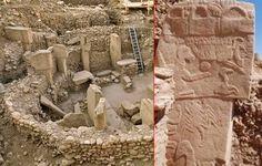 Göbekli Tepe in der Türkei - einer der ältesten Tempel der Welt! Dort wurde der mysteriöse Geierstein entdeckt (r.).