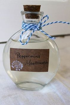DIY Peppermint Mouthwash
