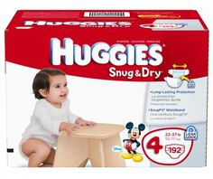 Huggies Snug & Dry Diapers, Size 4, 192-Count - http://www.intomars.com/huggies-snug-dry-diapers-size-4.html