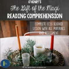 """A complete lesson plan with all student materials for teaching O'Henry's """"The Gift of the Magi."""" Rigorous holiday fun for secondary ELA."""