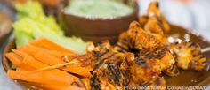 Joy Bauer's buffalo chicken & cauliflower skewers