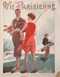 La Vie Parisienne Magazine 1 June 1929 Golf Related Cover