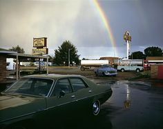 View Horseshoe Bend Motel, Lovell, Wyoming, July 1973 by Stephen Shore at 303 Gallery in New York, USA. Discover more artworks by Stephen Shore on Ocula now. Stephen Shore, Walker Evans, William Eggleston, Cindy Sherman, Color Photography, Street Photography, Film Photography, Landscape Photography, Famous Photography