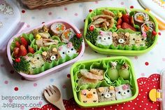 Rilakkuma and Friends Cube Bento