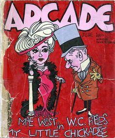 Arcade sketchbook cover illustration by Robert Crumb, 1962