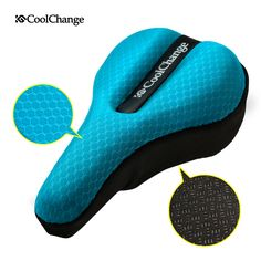 Bike Seat Cover Wide Exercise Bicycle Saddle Cushion Soft Pad Black LECE