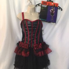 Renaissance ladies Bar Maid Costume Punk Dancer Teen One Size Fits Bust 33/34 | eBay