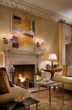 Traditional Living Room with Modern Elements - Neutral beige, taupe and cream