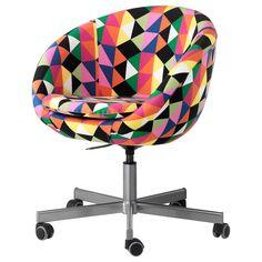 Okay, I am looking for a desk chair... YOW: SKRUVSTA Swivel chair - Majviken multicolor - IKEA