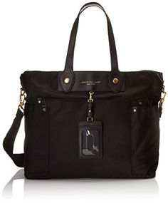 Women's Top-Handle Handbags - Marc by Marc Jacobs Preppy Nylon Elizababy Carry On Black One Size *** More info could be found at the image url.