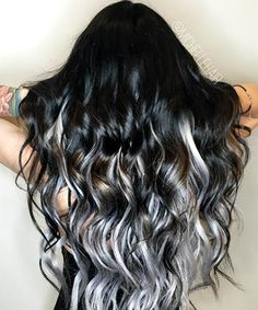 Warning: These grey and silver strands are going to give you major hair envy